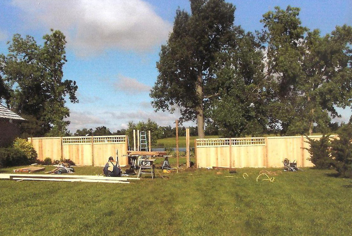 fence and yard before and after 1